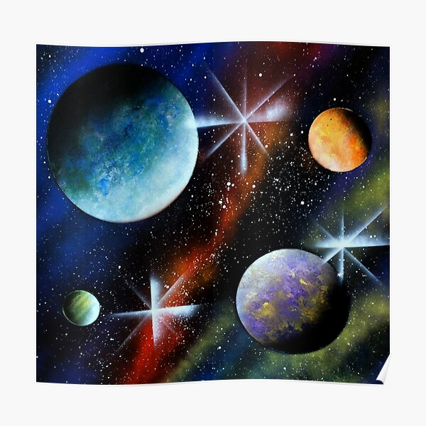 Galaxy Print Poster