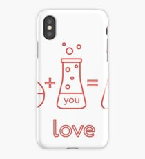 Chemistry of love. Valentine's Day iPhone Case/Skin