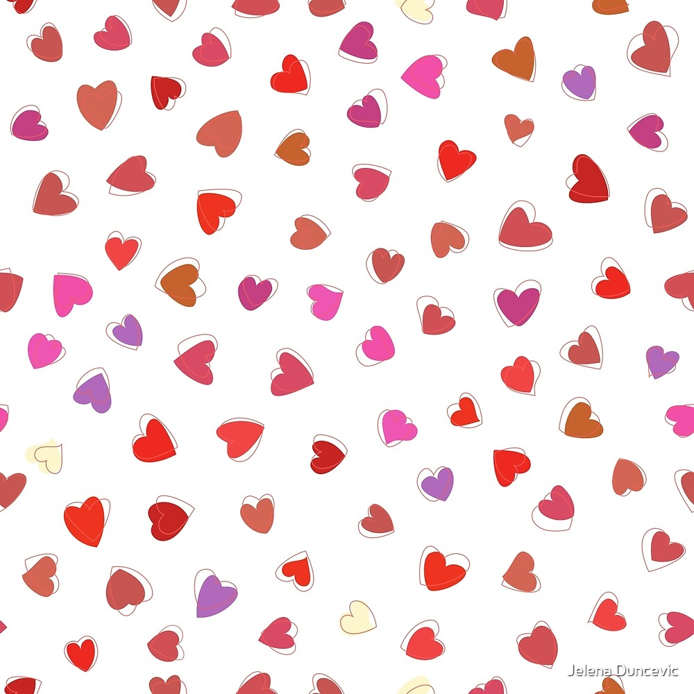 Love, Romance, Hearts - Red White Purple Pink by sitnica