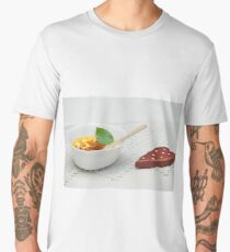 ice-cream with jam in a cup Men's Premium T-Shirt