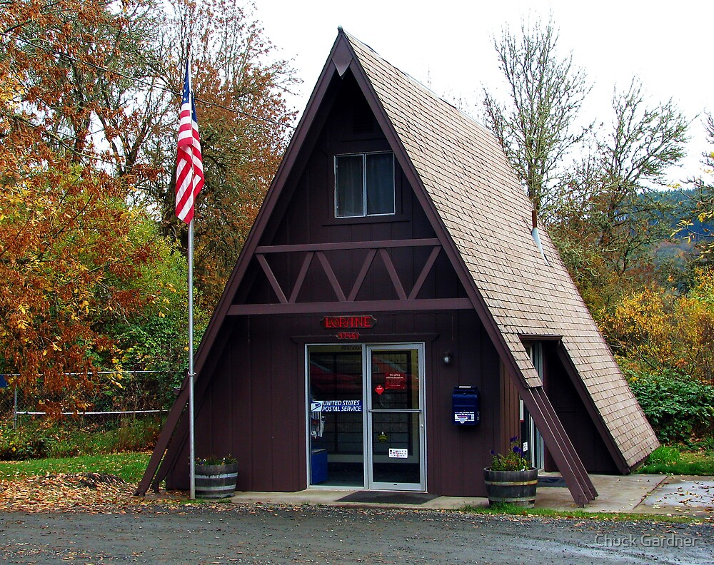 US Post Office Lorane, Oregon  by Chuck Gardner