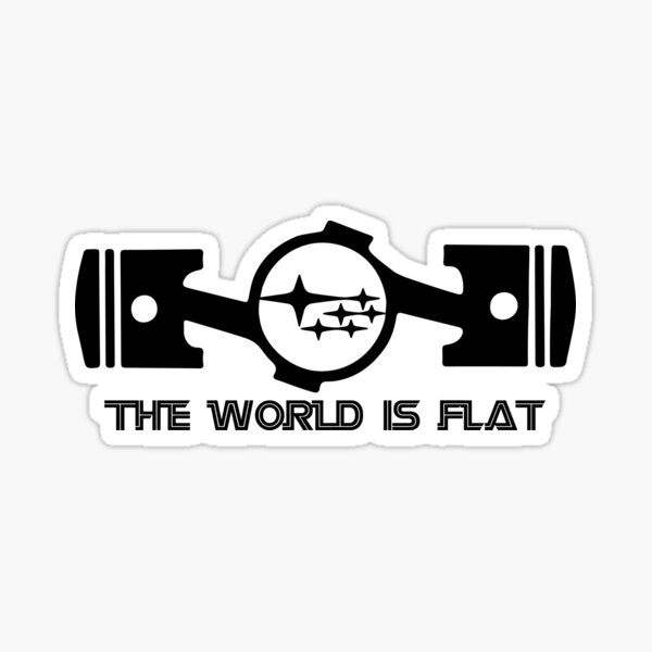 The World Is Flat Sticker