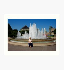 Me and fountain Art Print