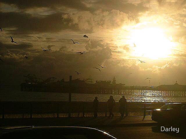Brighton Pier by Sunset by Darley