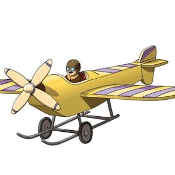 Cartoon Retro Vintage Planes by illumylov