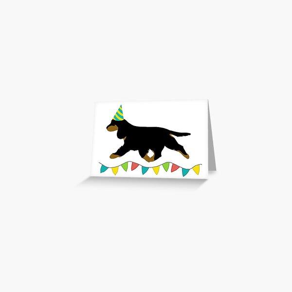 Cocker Spaniel (Black and Tan) Birthday Card Greeting Card