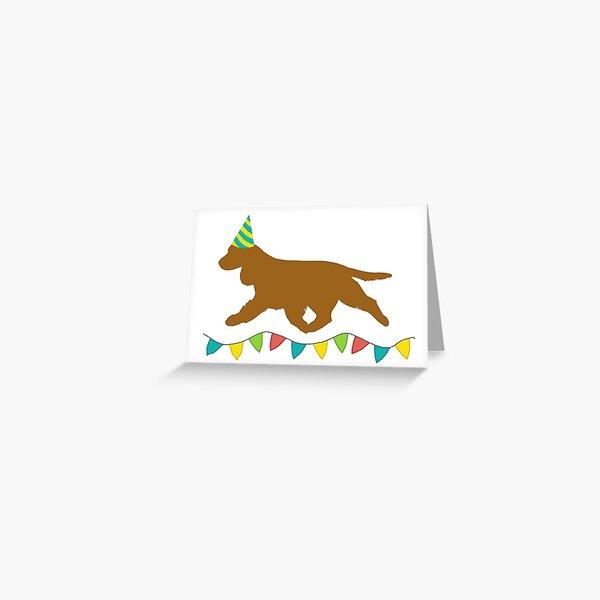 Cocker Spaniel (Golden) Birthday Card Greeting Card