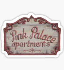 Coraline Pink Palace Apartments Sticker