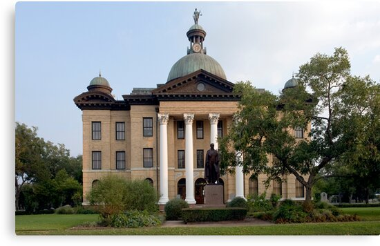 """""""Fort Bend County Courthouse, Richmond, Texas"""" Canvas ..."""