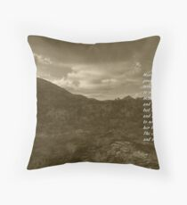and so the earth must grieve Floor Pillow