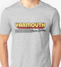 Yarmouth, Nova Scotia | Retro Stripes Unisex T-Shirt