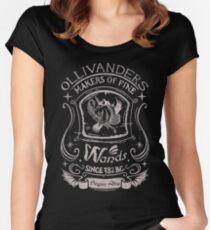 Feine Zauberstäbe Tailliertes Rundhals-Shirt