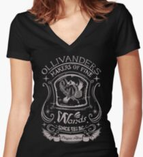Fine wands Women's Fitted V-Neck T-Shirt