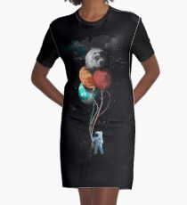 The Spaceman's Trip Graphic T-Shirt Dress