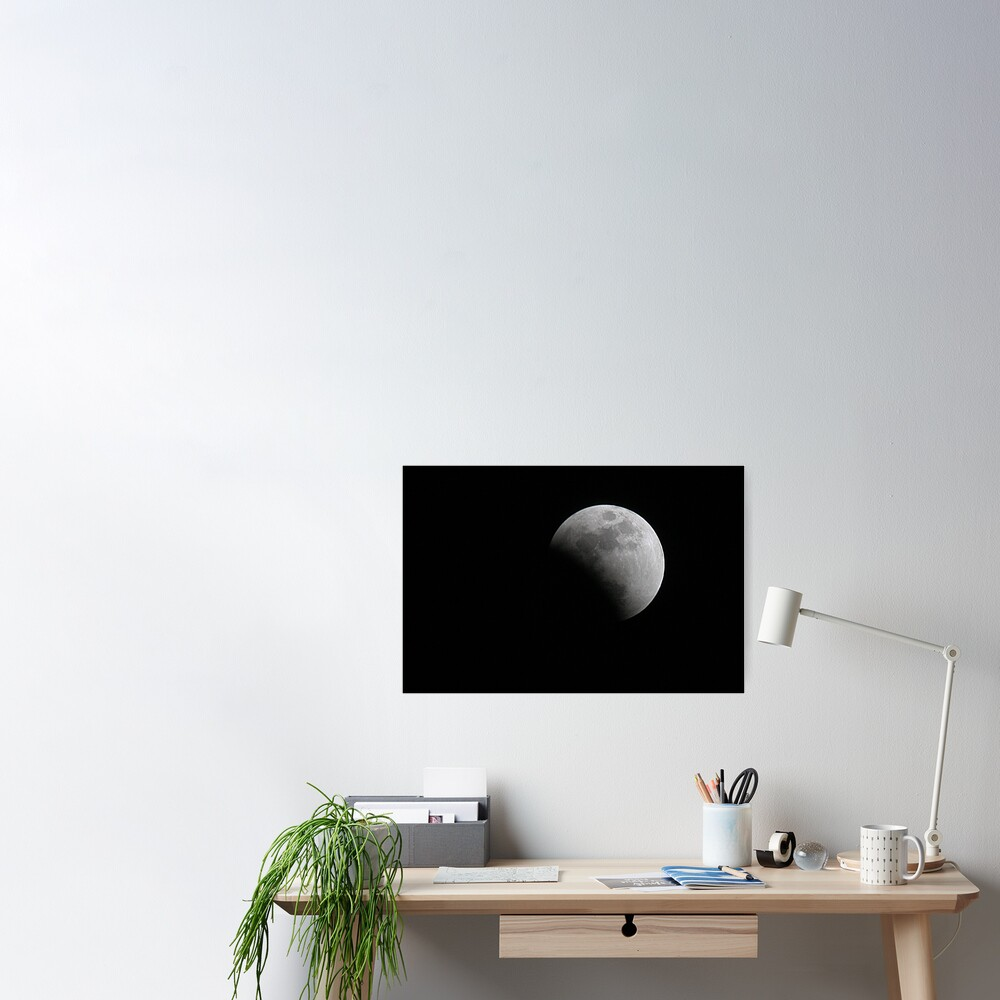Moon during Eclipse Poster