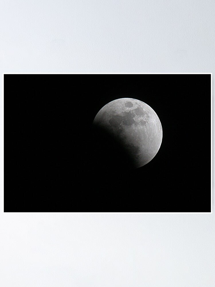 Alternate view of Moon during Eclipse Poster