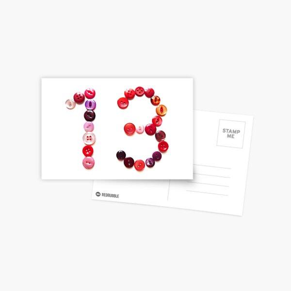 Thirteen Postcard