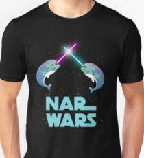 Nar-Kriege Narwhales Narwals Narwhals lustige Parodie mit Sternen speichern das Narwhals-Grafik-T-Shirt Unisex T-Shirt