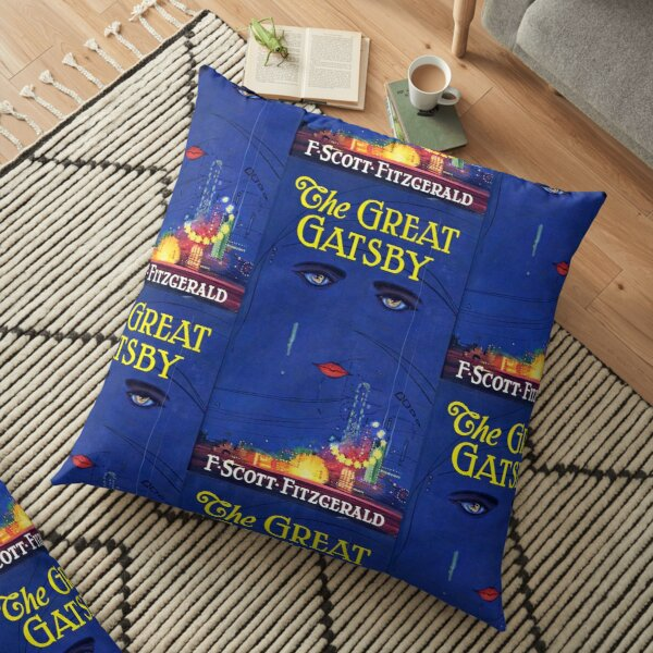 The Great Gatsby Print Floor Pillow