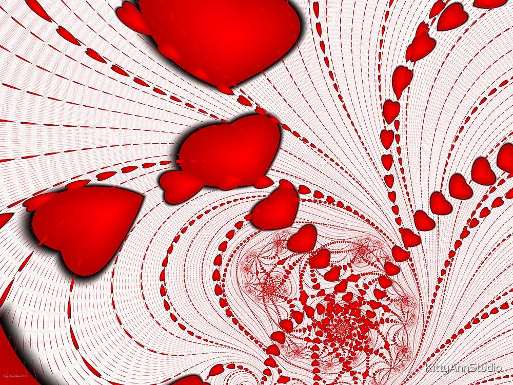 Hearts Spiral by KittyAnnStudio