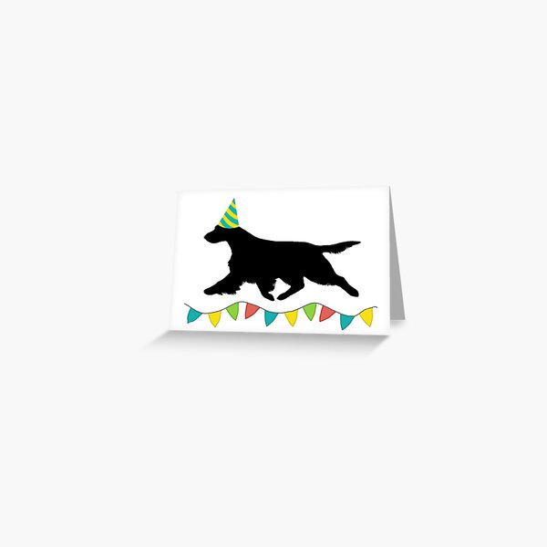 Field Spaniel (Black) Birthday Card Greeting Card