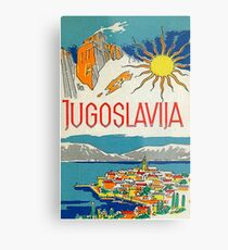 Jugoslawien Vintage Retro Travel Poster Metalldruck