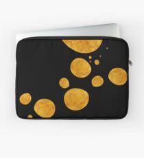 "Funda para portátil ""Golden dots & black background"""