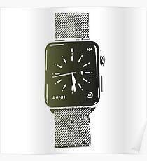 Apple watch digital art Poster