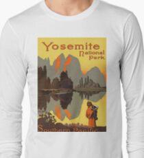 Yosemite National Park Vintage Travel Poster Long Sleeve T-Shirt