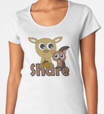 Deer and Squirrel Share Women's Premium T-Shirt