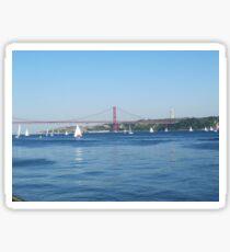 Lisbon, 2011, View from Belem Sticker