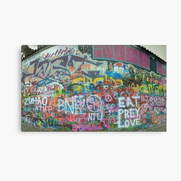 John Lennon Wall Canvas Print