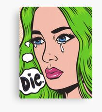 Die Comic Girl Canvas Print