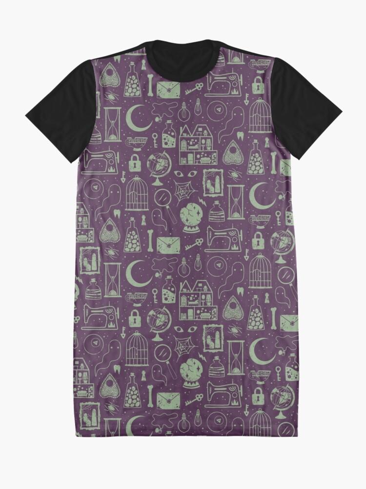 Alternate view of Haunted Attic: Phantom Graphic T-Shirt Dress