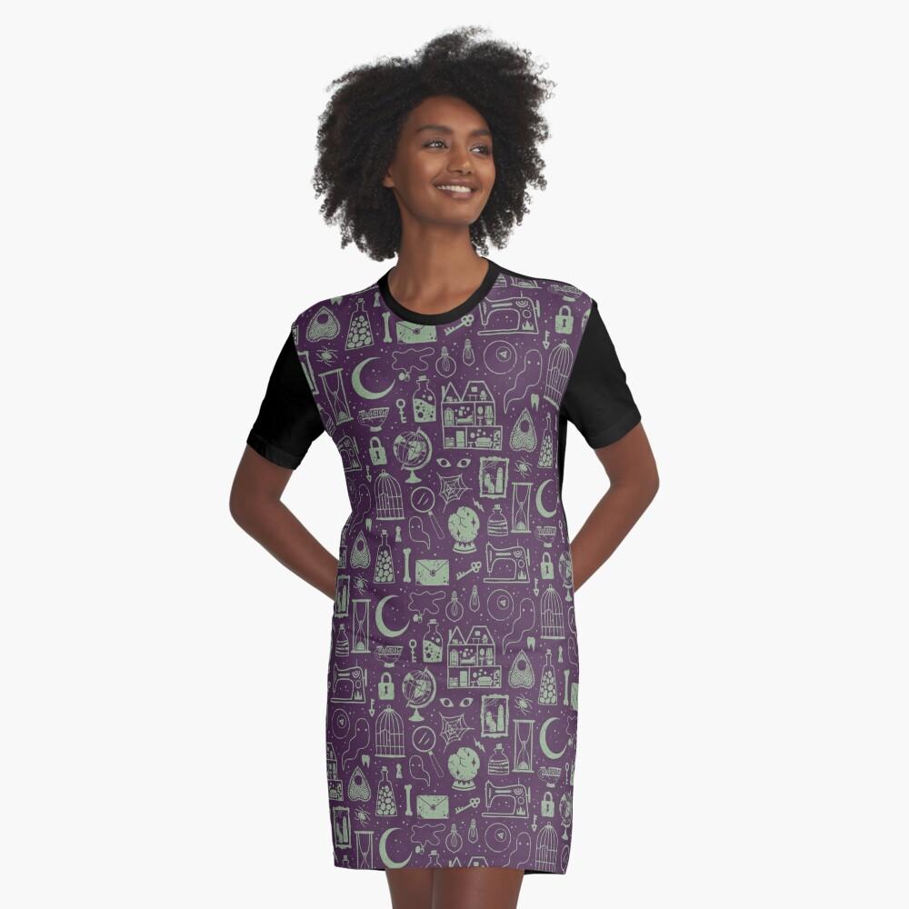 Haunted Attic: Phantom Graphic T-Shirt Dress