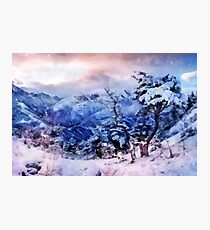 Winter in the mountains Photographic Print
