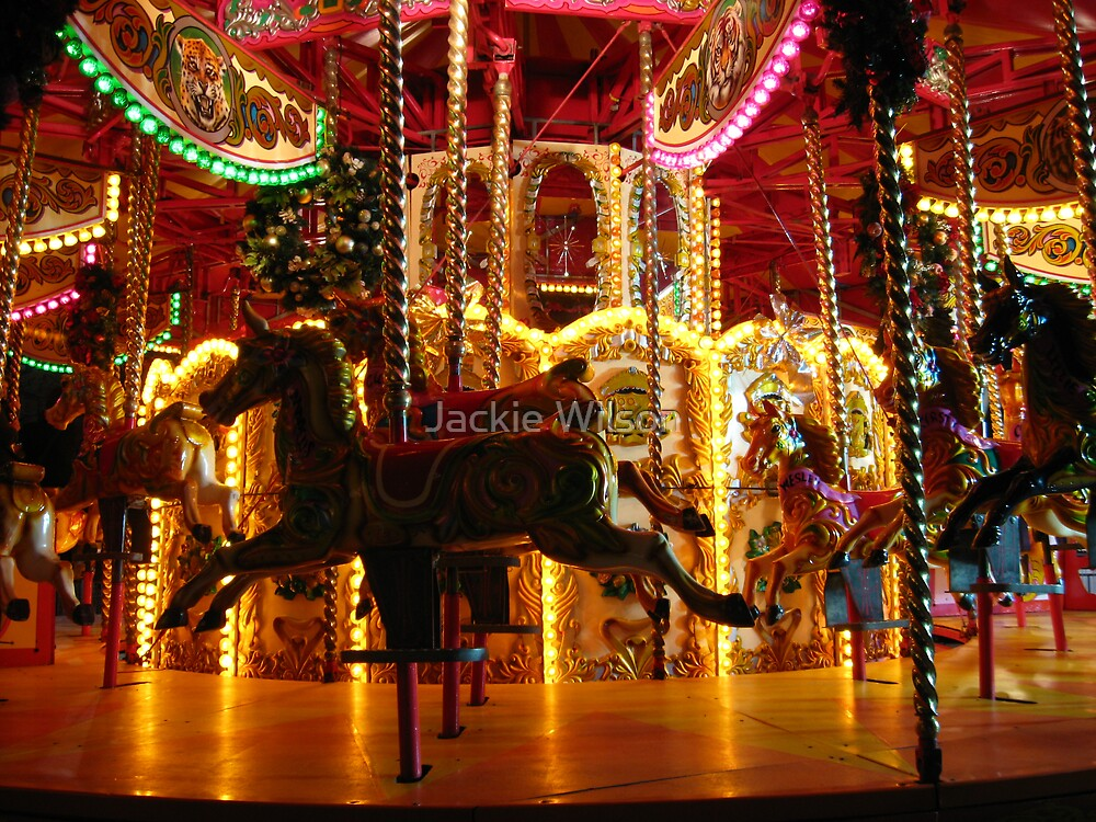 Fairground at night by Jackie Wilson