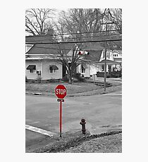 All Way Stop Photographic Print