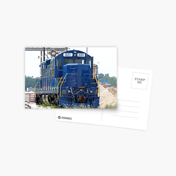 Train Engine Postcard