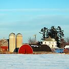 Barns in Winter  by Shelby  Stalnaker Bortone