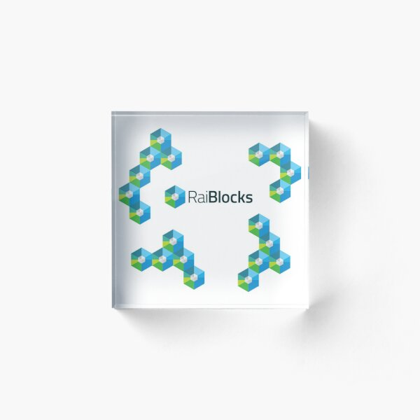 RaiBlocks Lattice Acrylic Block