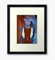Fantasy Anthro 1 - Silver Dragon Framed Print