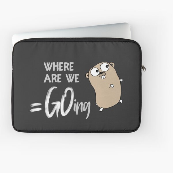 Golang –Where Are We Going Laptop Sleeve