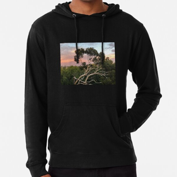 Pink Clouds and Ghost Gum Lightweight Hoodie