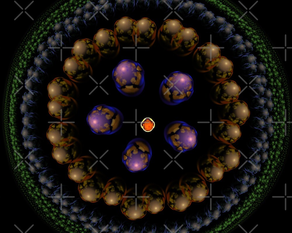 3d like spheres in julian circle by Tammy Shook