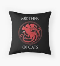 Mother of Cats Throw Pillow