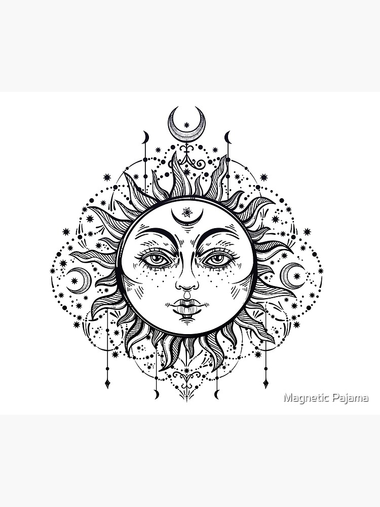 Vintage Sun with Stars and Moons by MagneticMama