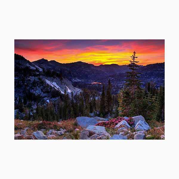 Sunset on the Eagle Cap Wilderness, Oregon Photographic Print