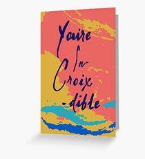 Tarjeta de felicitación Estás en Croix-dible La Croix Card