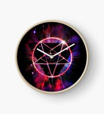 Space Demon 2049 - Evil Synthwave Sigil Clock